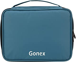 Gonex Electronics Travel Organizer,Large Portable Cable Bag with Strap Oxford Organizer Case for Travel Business Trip Outdoor Activity (Blue)