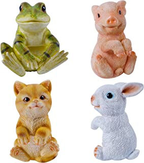 Sponsored Ad - Juegoal Set of 4 Flower Pot and Vase Hugger, Bunny Rabbit, Piglet, Frog & Kitten Cat Hanging Animal Garden ...