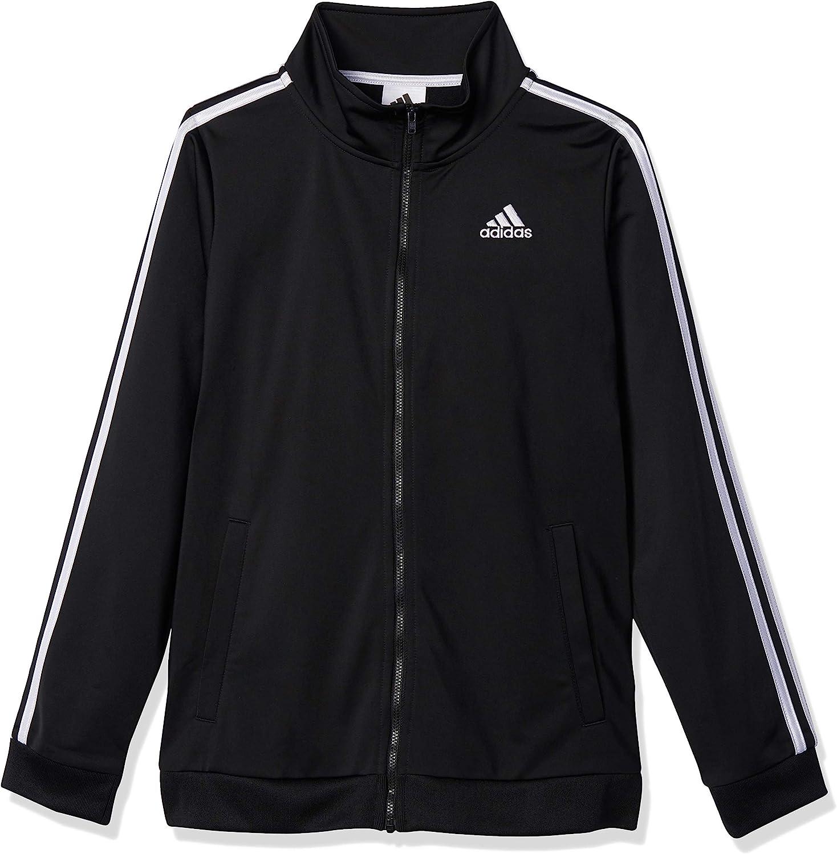 adidas Boys' Plus Recommendation Size Zip Tricot Dedication Iconic Jacket Front