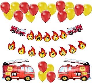 fireman birthday decorations