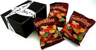 Gustaf's Gumbilees Gourmet English Style Wine Gums, 5.2 oz Bags in a BlackTie Box (Pack of 3)