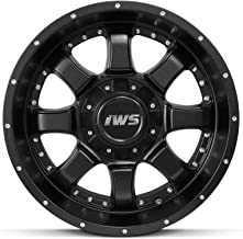 Bill Smith Auto Replacement For 4 Set Of 17X9 Inch Matte Black Wheel Rim 6x5.5 Fits Ford Chevy GMC 6x139.7 6x135-12mm
