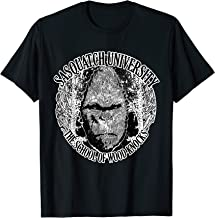 Sasquatch University; School of Wood Knocks Bigfoot T-Shirt