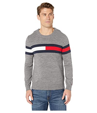 Tommy Hilfiger Adaptive Flag Crewneck Sweater (Medium Grey Budding) Men