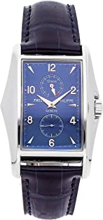 Patek Philippe Gondolo Mechanical (Hand-Winding) Blue Dial Mens Watch 5100G (Certified Pre-Owned)