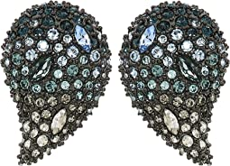 Crystal Encrusted Ombre Paisley Post Earrings