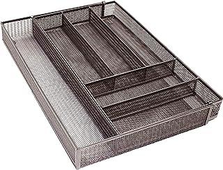 Organisateur de plateau à couverts, 6 compartiments de rangement pour tiroir de cuisine en maille, organisateur de tiroir ...
