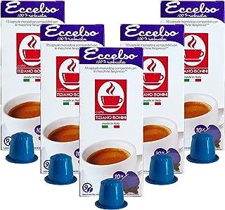 Caffe Bonini Nespresso Compatible Gourmet Espresso Capsules, for Original Line Nespresso Machine,50 Count (Eccelso - Intensity 9)