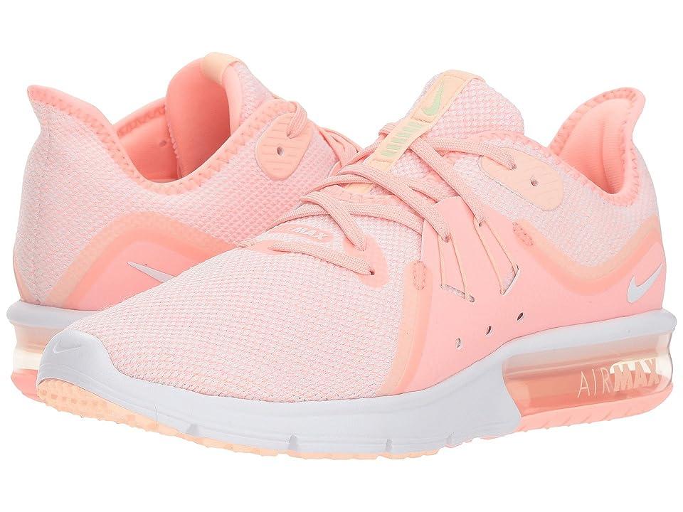 Nike Air Max Sequent 3 (Pink Tint/White/Crimson Tint/Vapor Green) Women