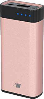 Just Wireless Portable Charger Power Bank External Battery Pack 4,000mAh Phone Charger for Apple iPhone Including XS, XS Max, XR, X, 8, 8 Plus, iPad, iPod, Samsung Galaxy and More - Rose Gold