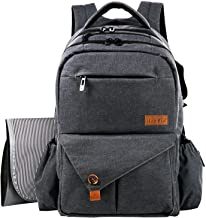 HapTim Multi-function Large Baby Diaper Bag Backpack W/Stroller Straps-Insulated Bottle..