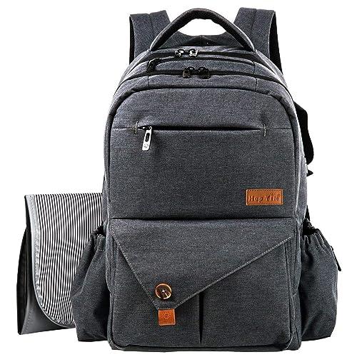 HapTim Multi-function Large Baby Diaper Bag Backpack W Stroller  Straps-Insulated Bottle 701dd9d04f52