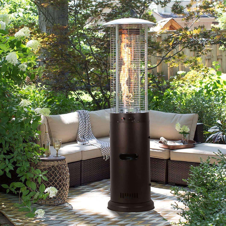 Arlington Mall FDSAD Terrace Heaters Max 52% OFF Propane Main Steel Large-Wheeled Stainless