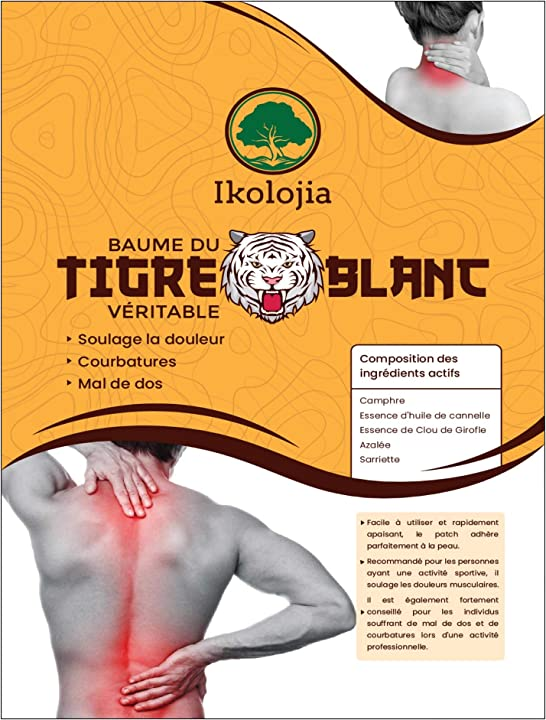 ikolojia cerotti al balsamo di tigre (x8)   antinfiammatori, mal di schiena, mal di collo, spalle - dolori muscolari b084zj2qqz