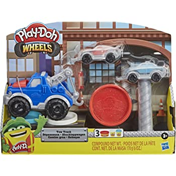 Play-Doh Wheels Crane /& Forklift Construction Toys with Non-Toxic Cement Buildin Compound Plus 2 Additional Colors Hasbro E5400