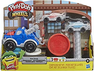 Play-Doh Wheels - Tow Truck, Cars and Hoist with 3 tubs Non Toxic Dough - Kids Creative Toys - Ages 3+