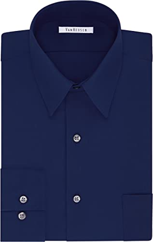 Van Heusen Hommes's Taille Big Robe Shirt Tall Fit Poplin, Persian bleu, 17  Neck 37 -38  Sleeve