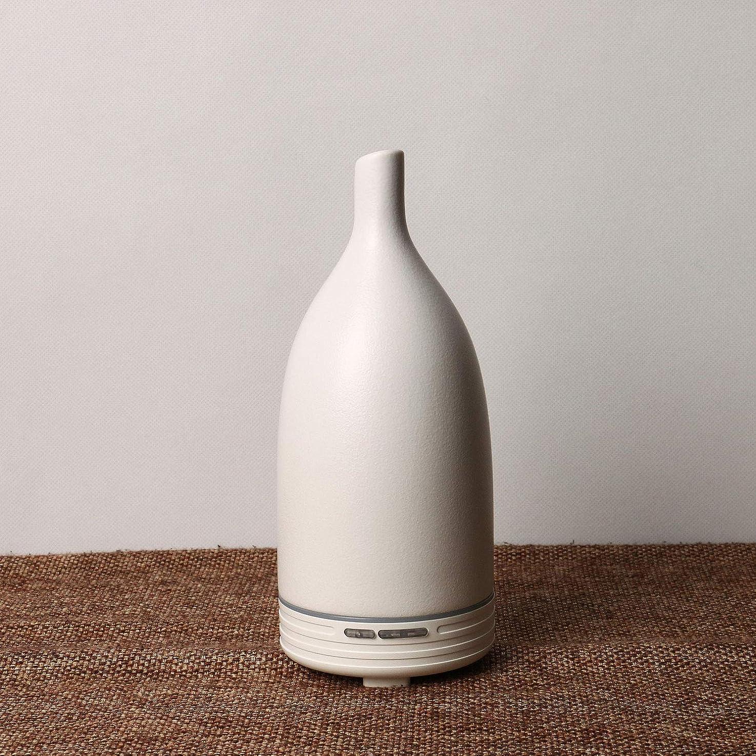 ほのか尽きるピアースアロマディスペンサー精油加湿器陶磁器の材質は家庭の事務用に適しています。 (ホワイト)