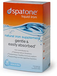Nelsons Spatone 100% Natural Iron Supplement For Everyone Over the Age Two 14 Sachets