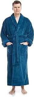 Men's Shawl Collar Full Length Tall Long Fleece Robe, Turkish Bathrobe