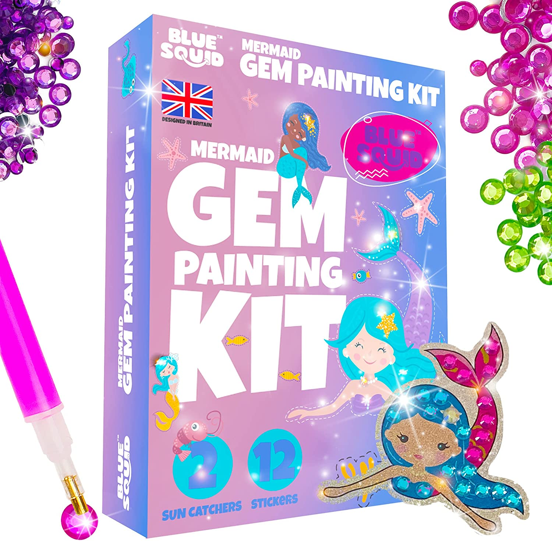 Blue Squid Diamond Painting Kits - Mermaids for Popular brand in the Ranking TOP5 world Art Kids