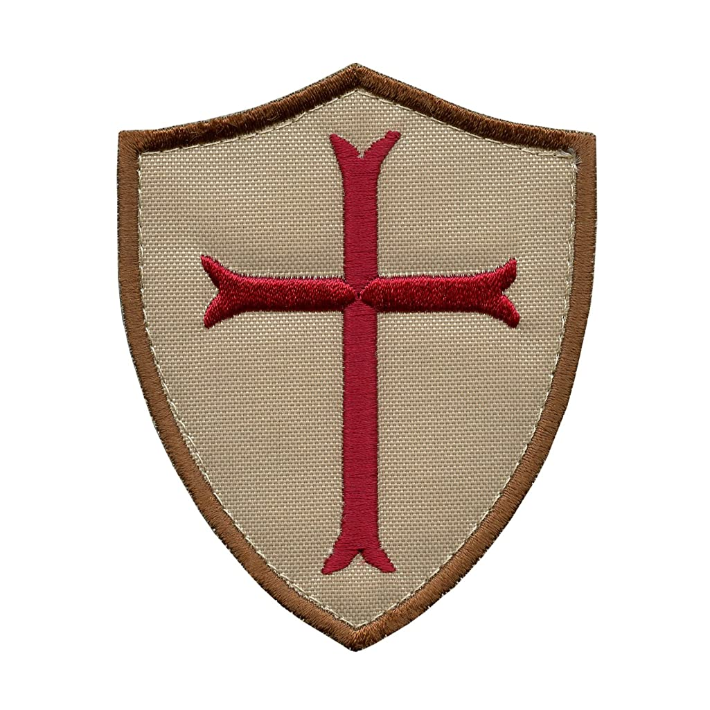 LEGEEON Desert AOR1 Crusaders Templar Cross US Navy Seals DEVGRU Embroidered Sew Iron on Patch