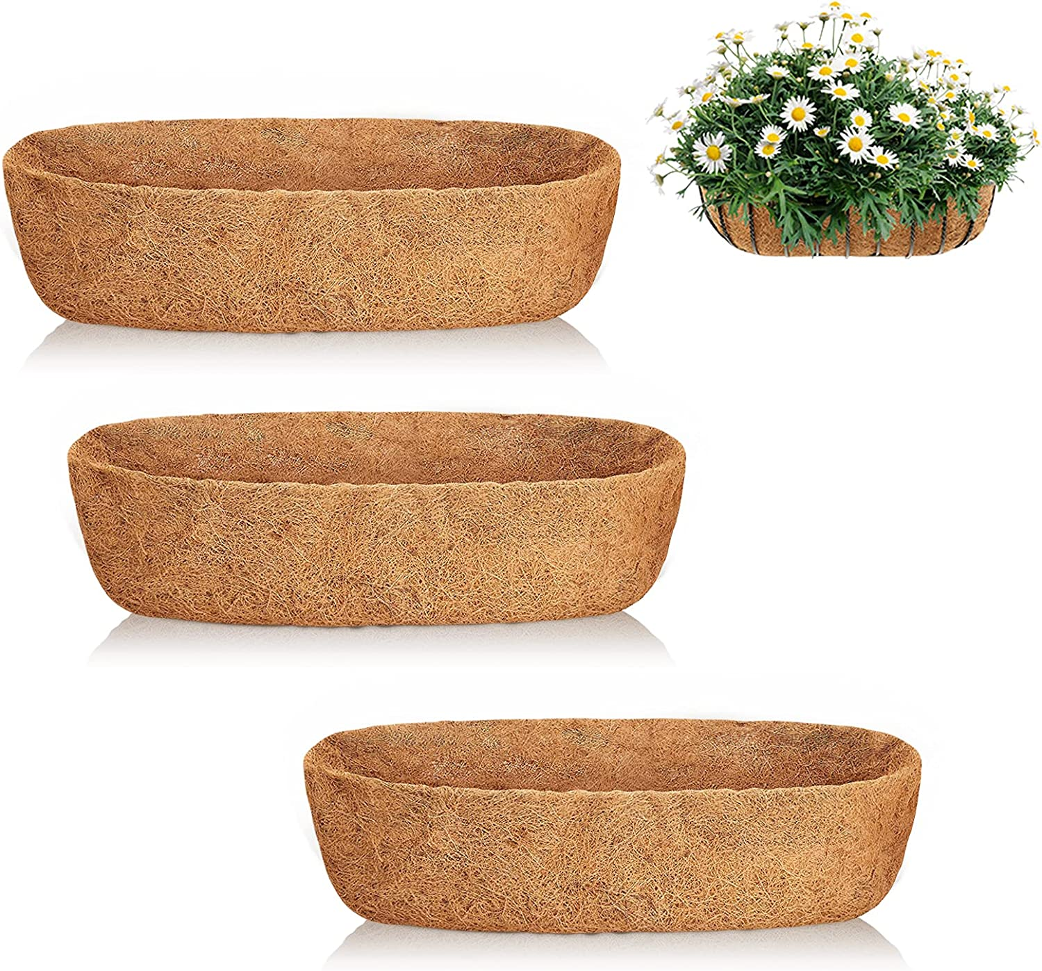 JISON21 Coco Fiber Liners Inventory cleanup selling sale for Planters Coconut Co - Limited time free shipping 48 3PCS Inch