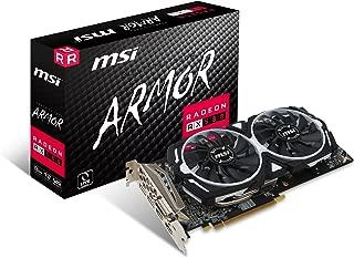 MSI Vga Radeon Rx 580 Armor 8G Oc Rx580 8Gb Gddr5 256B Dx12 Pcie 3.0 X16 (1Xdvi 2Xhdmi 2Xdp)