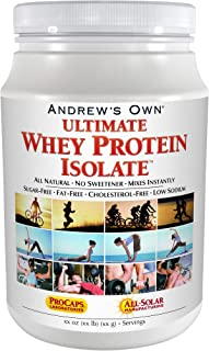 Andrew Lessman Ultimate Whey Protein Isolate 100 Servings – Supports Workout Recovery & Lean Muscle Non-GMO, No Added Flav...