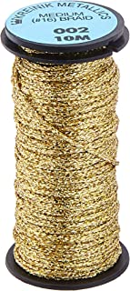 Kreinik No.16 10m Metallic Braid Trim, Medium, Gold
