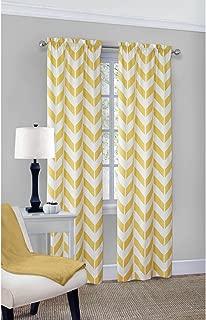 Mainstay Yellow Chevron Curtain Panel Pair