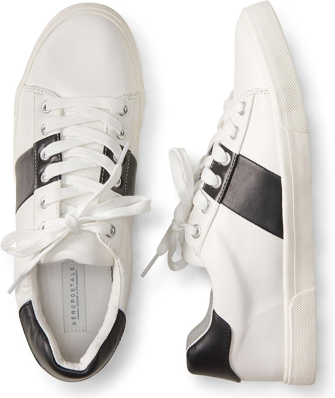 Aeropostale Womens Stripe Contrast Sneakers