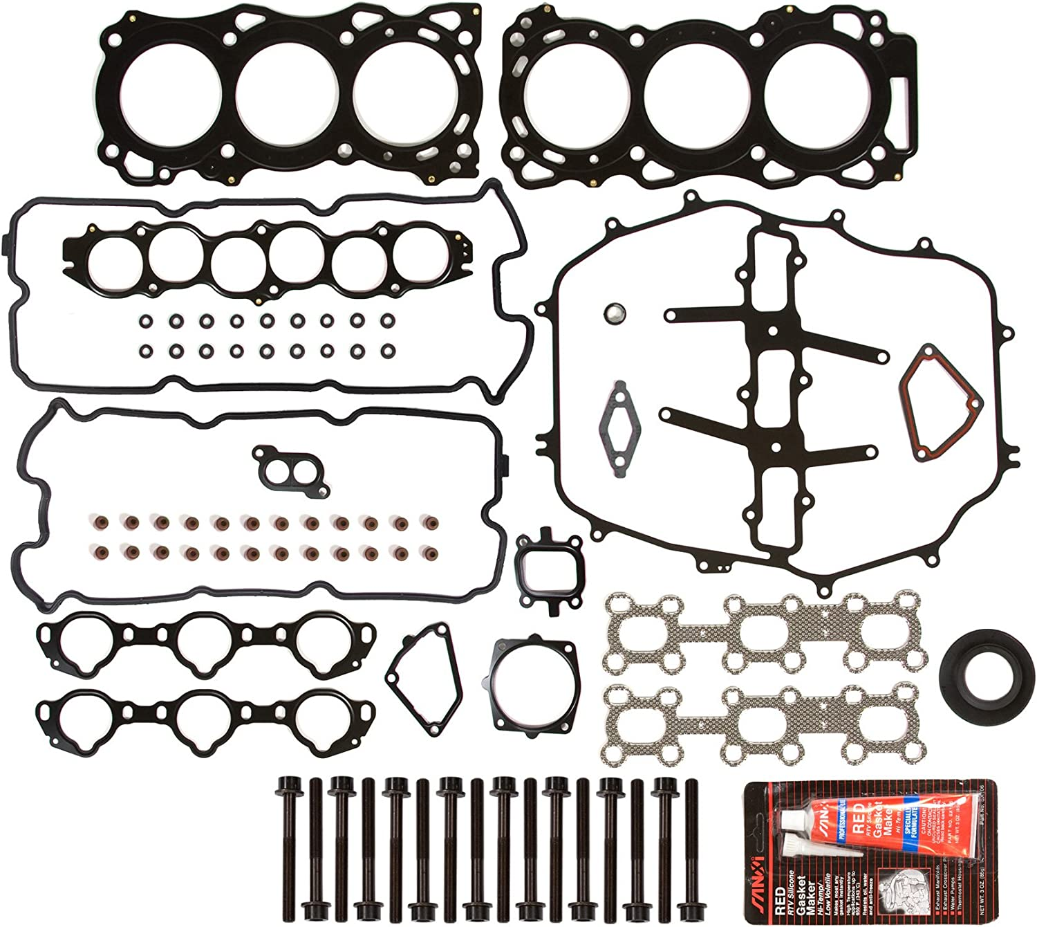 Evergreen HSHB3035 Challenge the lowest price Cylinder Head Bolt Special price Gasket Set