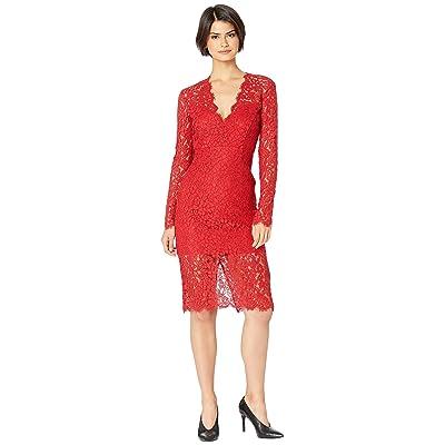 Bardot Midnight Lace Dress (Famous Red) Women