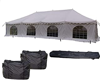 40`x20` PVC Pole Tent - Heavy Duty Party Wedding Canopy Shelter - With Storage Bags - By DELTA Canopies