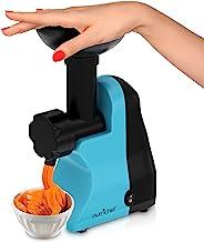 Nutrichef NCIM30 Electric Maker Fruit Sorbet Machine Makes Healthy Vegan Ice Cream Desserts, Soft Serve Gelato, Smoothie, Slushie, Frozen Dairy Free Yogurt w/Recipe Book