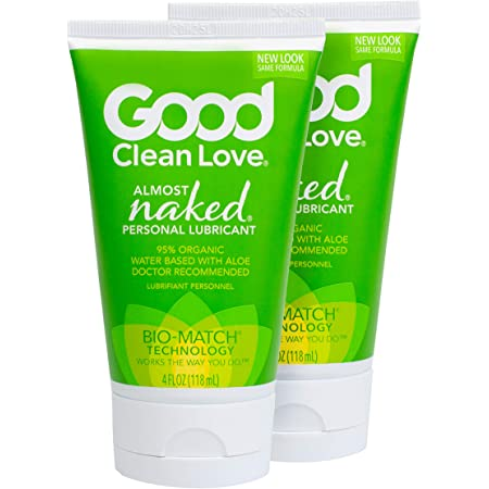 Good Clean Love : Almost Naked Personal Lubricant 2 Pack, 4 Ounce Bottles, Organic & Aloe-Based