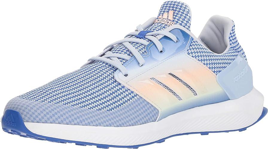 Adidas Originals Unisex-Kids RapidaRun Running chaussures, Hi-Res bleu Aero bleu Aero vert, 5.5 M US Big Kid