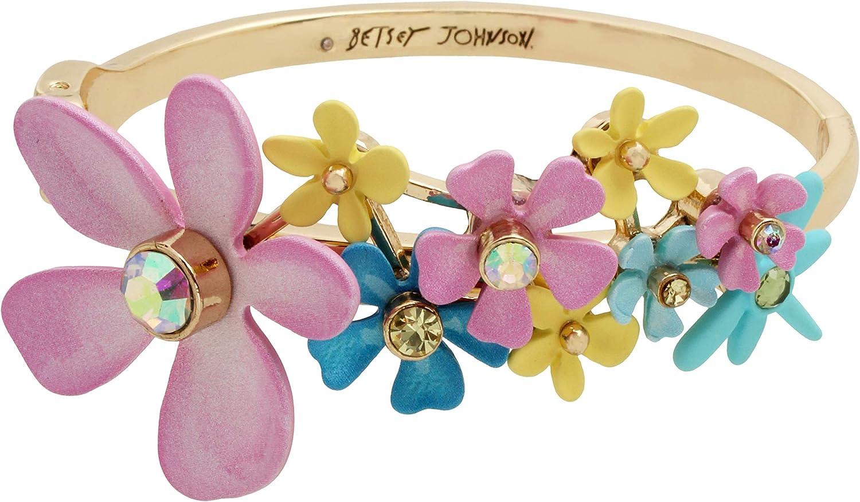 Betsey Johnson Flower Cluster Bangle Bracelet