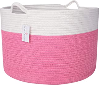 """XXL Cotton Rope Toy Basket 20"""" x 20"""" x 13.3"""" 