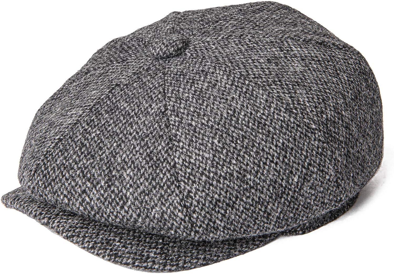 BOTVELA Men's 8 Piece Factory Challenge the lowest price of Japan ☆ outlet Wool Blend Flat Newsboy Tw Herringbone Cap