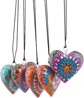 hand painted wooden hearts