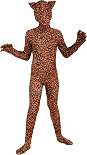 Forum Novelties I'm Invisible Costume Stretch Body Suit, Leopard Print, Child Medium