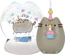 Pusheen Birthday Waterdazzler Water Globe and Pusheen Happy Birthday Ornament