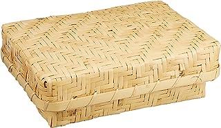 山下工芸(Yamasita craft) 白竹アジロ編弁当フタ付 小 71326000