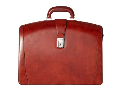 Bosca Old Leather Collection Partners Brief (Cognac Leather) Briefcase Bags