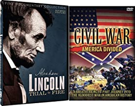 Civil Divide President Abraham Lincoln Film & 5 Documentaries / Trial By Fire + Civil War 10 Part Journey into The Bloodiest War in American History DVD 2-Pack