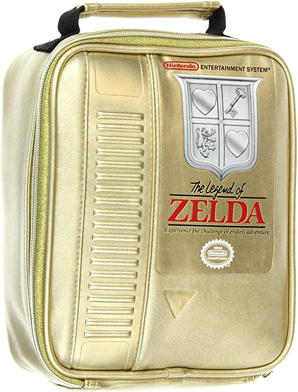 The Legend Of Zelda NES Classic Gold Video Game Cartridge Insulated Lunch Box Bag Tote