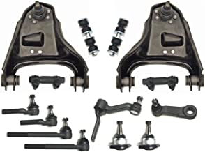14 Pcs Kit Upper Control Arm Tie Rod Adjusting Sleeves Inner Outer Tie Rod Ends Idler Arm Pitman Lower Ball Joint 4WD Only- Heavy Duty