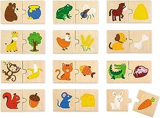 VIGA Animals Feeding Puzzle Set